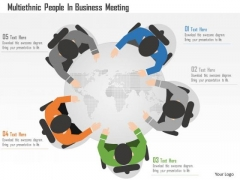 Business Diagram Multiethnic People In Business Meeting Presentation Template