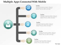 Business Diagram Multiple Apps Connected With Mobile Presentation Template