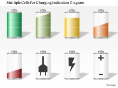 Business Diagram Multiple Cells For Charging Indication Diagram Presentation Template