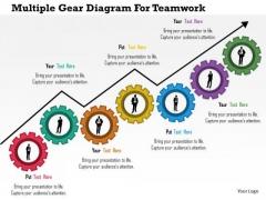 Business Diagram Multiple Gear Diagram For Teamwork Presentation Template