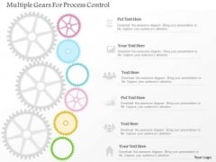 Business Diagram Multiple Gears For Process Control PowerPoint Template