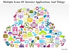 Business Diagram Multiple Icons Of Internet Applications And Things Presentation Template