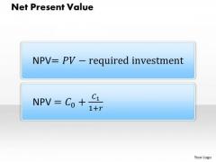 Business Diagram Net Present Value PowerPoint Ppt Presentation