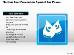 Business Diagram Nuclear Fuel Prevention Symbol For Power Presentation Template