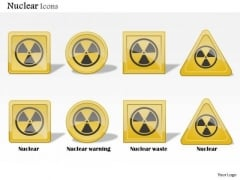 Business Diagram Nuclear Icons Showing Warning Waste Alarm Toxic Presentation Template