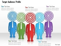 Business Diagram Of Target Audience Profile Presentation Template