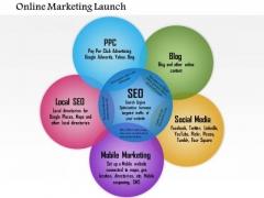 Business Diagram Online Marketing Launch PowerPoint Ppt Presentation