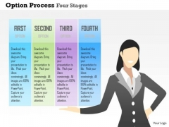Business Diagram Option Process Four Stages Presentation Template