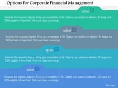 Business Diagram Options For Corporate Financial Management Presentation Template