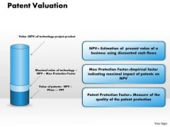 Business Diagram Patent Valuation PowerPoint Ppt Presentation