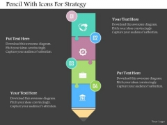 Business Diagram Pencil With Icons For Strategy Presentation Template