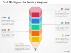 Business Diagram Pencil With Segments For Inventory Management Presentation Template