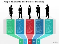 Business Diagram People Silhouette For Business Planning Presentation Template
