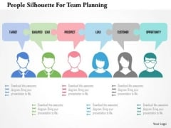 Business Diagram People Silhouette For Team Planning Presentation Template