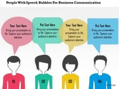 Business Diagram People With Speech Bubbles For Business Communication Presentation Template
