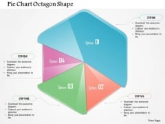 Business Diagram Pie Chart Octagon Shape Presentation Template