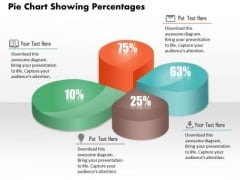 Business Diagram Pie Chart Showing Percentages Presentation Slide Template