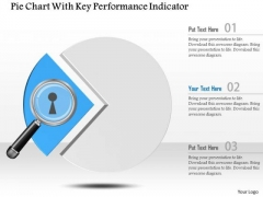 Business Diagram Pie Chart With Key Performance Indicator Presentation Template