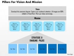 Business Diagram Pillars For Vision And Mission Presentation Template