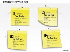 Business Diagram Post It Notes With Pins Presentation Template