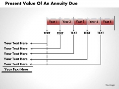 Business Diagram Present Value Of An Annuity Due PowerPoint Ppt Presentation