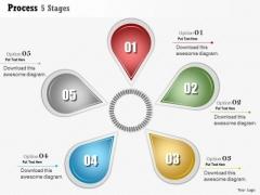 Business Diagram Process 5 Stages Agenda Info Graphic Diagram Presentation Template