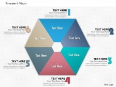 Business Diagram Process 6 Steps Info Graphic Diagram Presentation Template