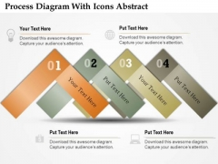 Business Diagram Process Diagram With Icons Abstract Presentation Template