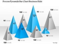 Business Diagram Process Pyramids Bar Chart Business Slide Presentation Template