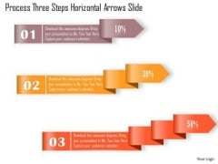 Business Diagram Process Three Steps Horizontal Arrows Slide Presentation Template