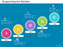 Business Diagram Progress Steps For Timeline Presentation Template