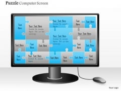 Business Diagram Puzzle Computer Screen Presentation Template