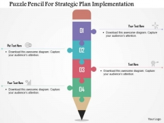 Business Diagram Puzzle Pencil For-strategic Plan Implementation Presentation Template