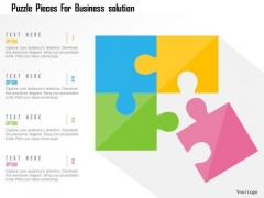 Business Diagram Puzzle Pieces For Business Solution Presentation Template