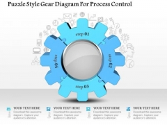 Business Diagram Puzzle Style Gear Diagram For Process Control Presentation Template