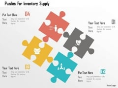 Business Diagram Puzzles For Inventory Supply Presentation Template