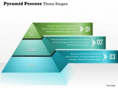 Business Diagram Pyramid Process Three Stages Info Graphic Presentation Template