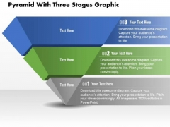 Business Diagram Pyramid With Three Stages Graphic Presentation Template