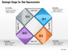 Business Diagram Rectangle Design For Data Representation Presentation Template