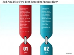 Business Diagram Red And Blue Two Text Boxes For Process Flow Presentation Template