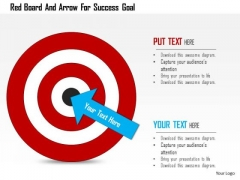 Business Diagram Red Board And Arrow For Success Goal Presentation Template