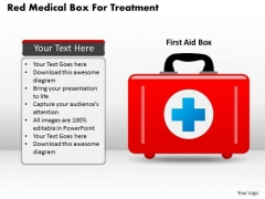Business Diagram Red Medical Box For Treatment Presentation Template