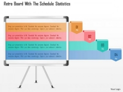 Business Diagram Retro Board With The Schedule Statistics PowerPoint Template