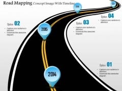 Business Diagram Road Mapping Concept Image With Timeline Presentation Template