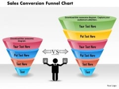 Business Diagram Sales Conversion Funnel Chart Presentation Template
