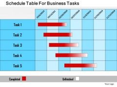 Business Diagram Schedule Table For Business Tasks Presentation Template