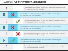 Business Diagram Scorecard For Performance Management Presentation Template