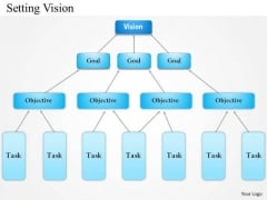 Business Diagram Setting Vision PowerPoint Template