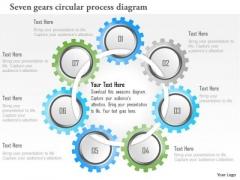 Business Diagram Seven Gears Circular Process Diagram Presentation Template