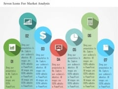 Business Diagram Seven Icons For Market Analysis Presentation Template